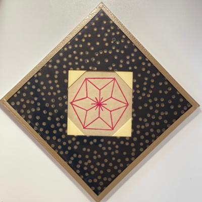 Framed Japanese Vintage Embroidery
