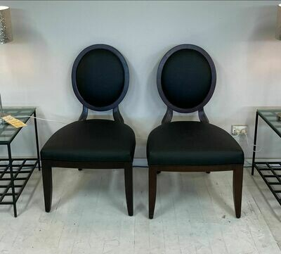 Centra Side Chair (pair) - in Wenge with faux leather