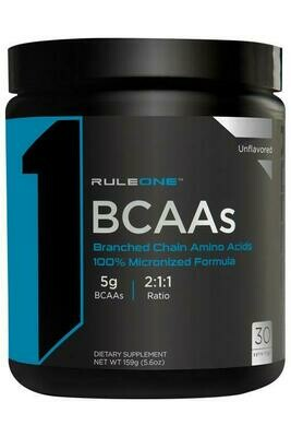 Rule1 BCAA  30 Ser Unflavored