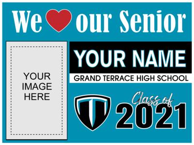 Grand Terrace High School Yard Sign