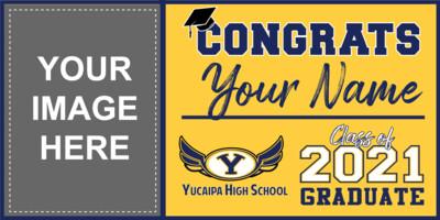 Yucaipa High School Grad Banner