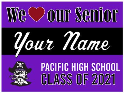 Pacific High School Yard Sign