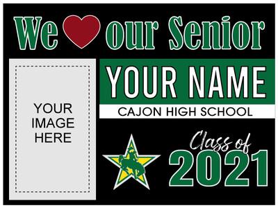 Cajon High School Yard Sign