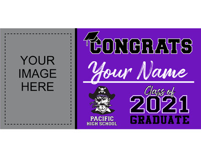 Pacific High School Grad Banner