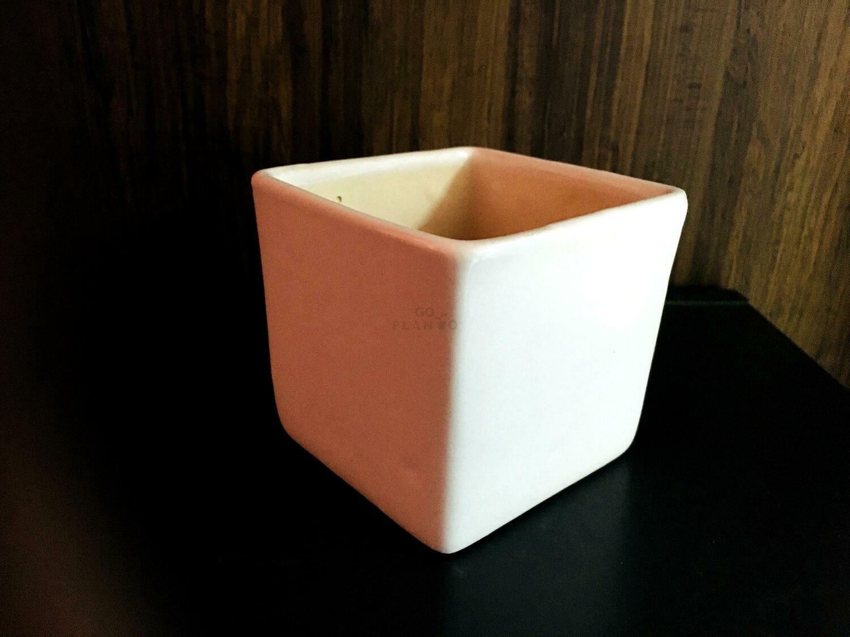 Plain Square Ceramic Pot
