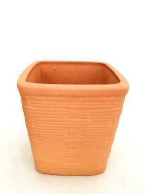 Square Bamboo Terracotta Pot