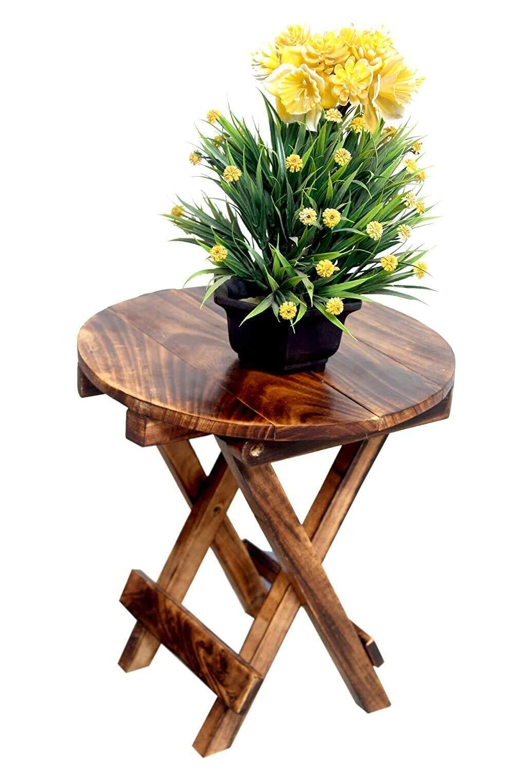 Indoor Wood Plant Stand   Multipurpose Stand   Coffee Stand Round
