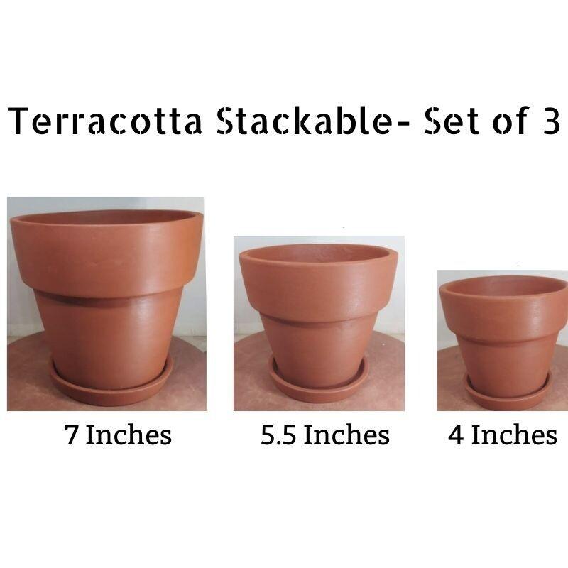 Terracotta - Stackable (Set of 3)