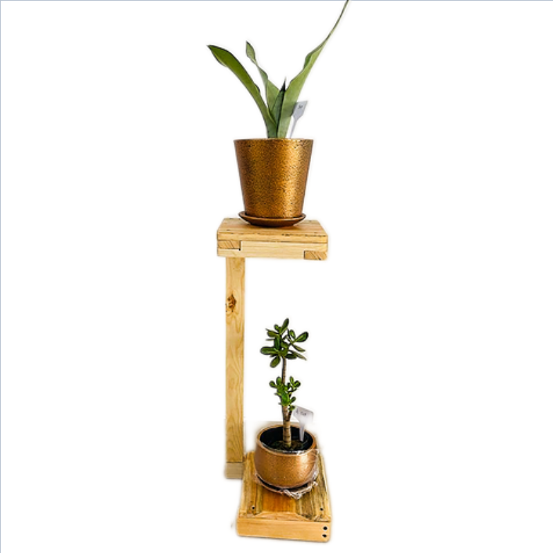 Wooden Multipurpose Bunker Plant Stand /Living Room Side Stand/Wooden Stool/Flower Pot Stand
