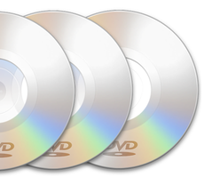 250 DVDs Duplicated w/ Thermal Print
