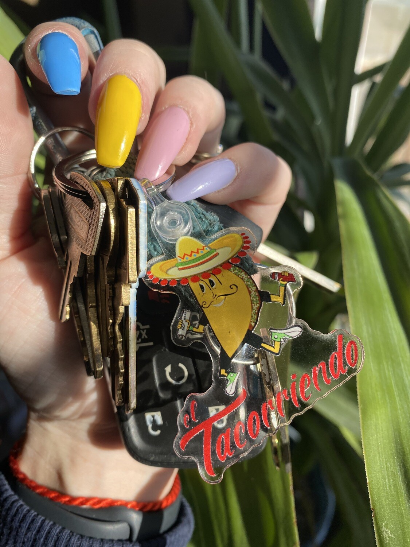 El Tacorriendo Keychain