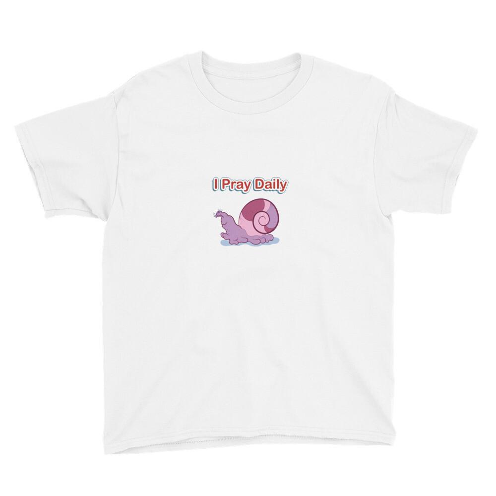 Elissa I Pray Daily Youth Short Sleeve T-Shirt