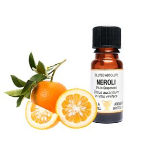 Neroli - Citrus Aurantium - 5% in Grapeseed.  10 ml Diluted Absolute