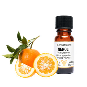 Neroli - Citrus Aurantium - 5% in Grapeseed.  10 ml Diluted Absolute