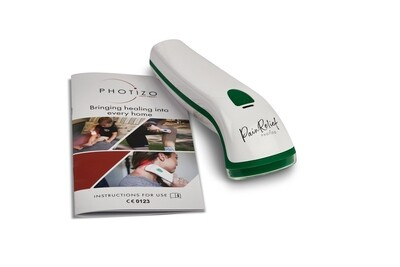 PHOTIZO PAIN RELIEF CE Approved /  LED / RED LIGHT THERAPY / NEAR INFRARED. For pain relief. Hand held rechargeable unit.  FREE UK SHIPPING