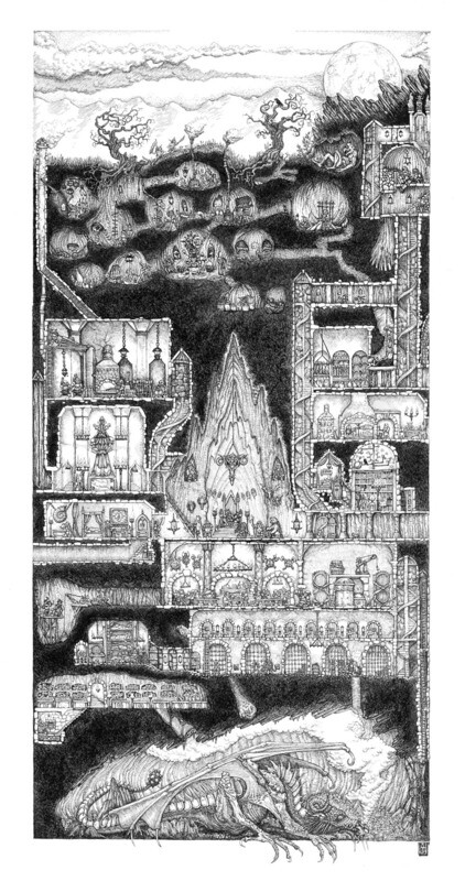 The Underground Dwarven Stronghold Art Print: Large