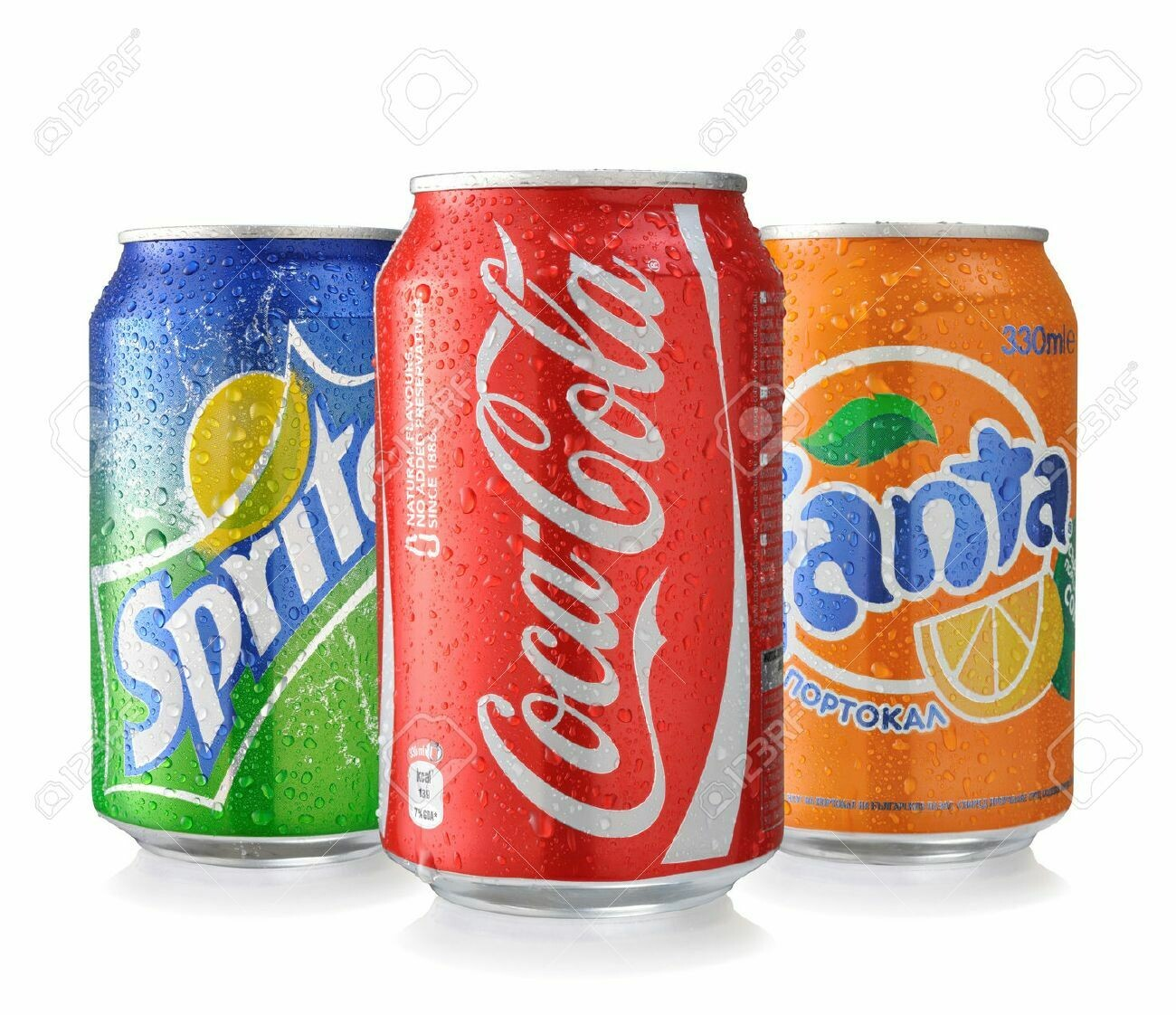 Cola ,Fanta ,Sprite,