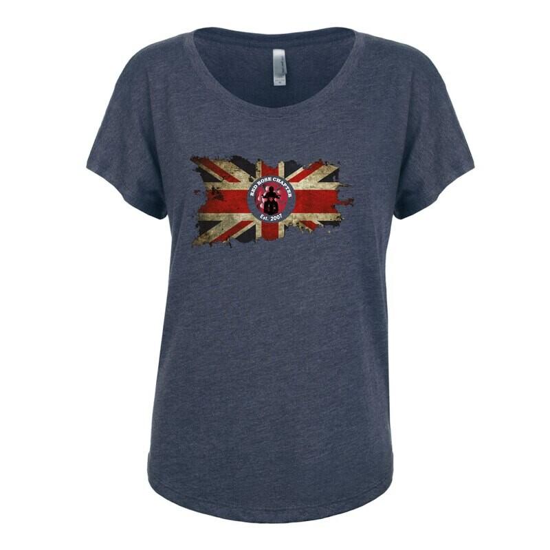 Red Rose Chapter Ladies Tri-Blend Dolman T-Shirt