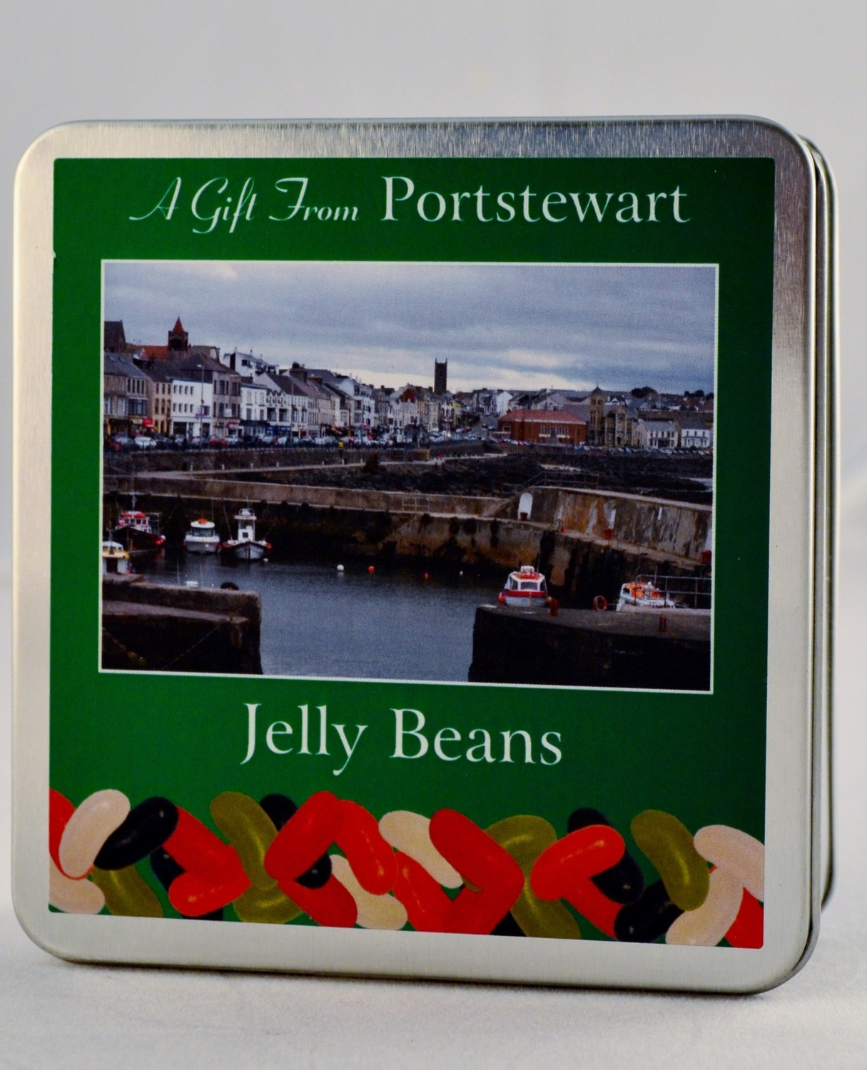 Jelly Beans Square Tin - Portstewart Branded