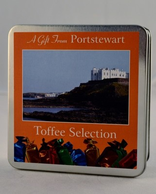 Toffee Selection Square Tin - Portstewart Branded