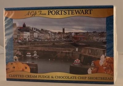 Clotted Cream Fudge & Chocolate Chip Shortbread - Portstewart Branded