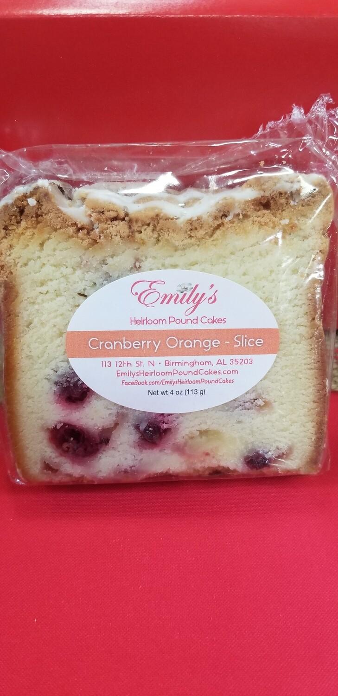 Cranberry Orange with Orange Glaze Slice (3) - SEASONAL