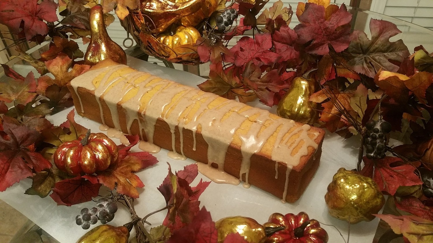 Pumpkin with Brown Sugar Drizzle Round or Loaf