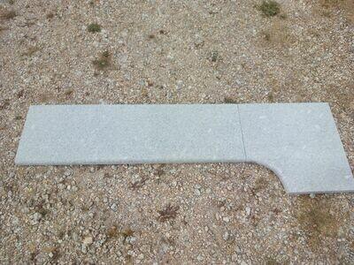 Margelle en granit gris bleu