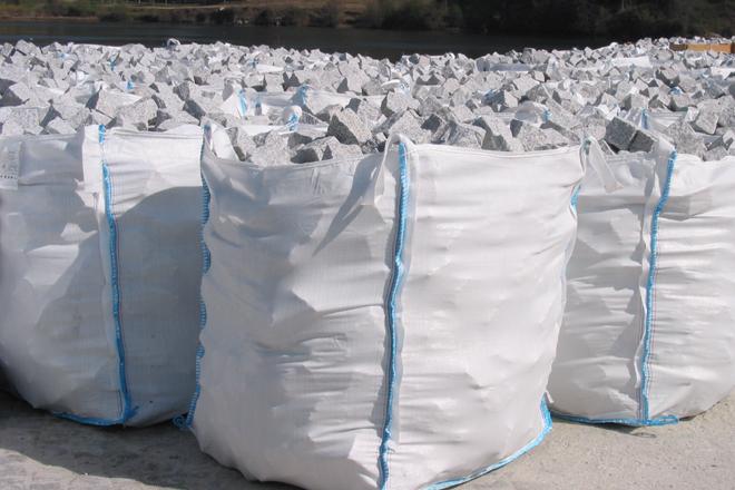 Pavé granit gris clair clivé - 7.40€/m2 HT