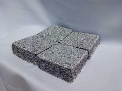 """Pavé granit Gris/foncé """"Roriz"""" rectifié - prix au m2"""