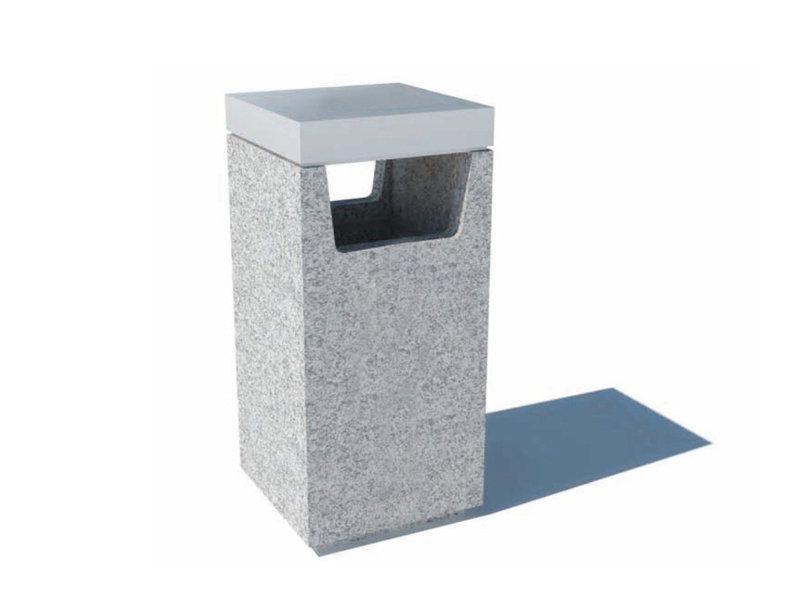 Conteneur des ordures en granit Tellus