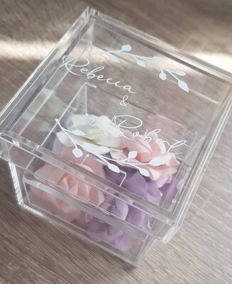 Personalised Clear Acrylic Wedding Ring Box