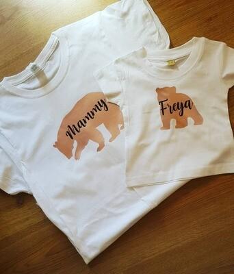 mammy bear baby bear tshirt set
