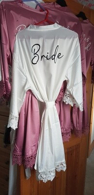 Satin Lace Bridal Robes (text only)