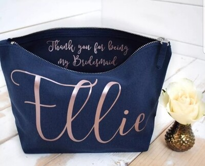 Personalised Canvas Cosmetic Bag