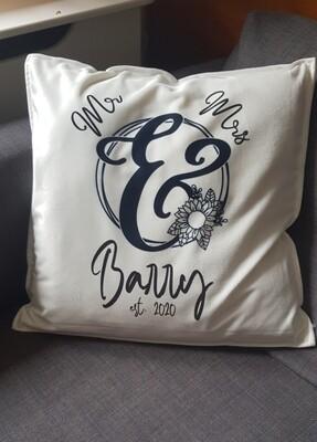Personalised Wedding Couple Cushion
