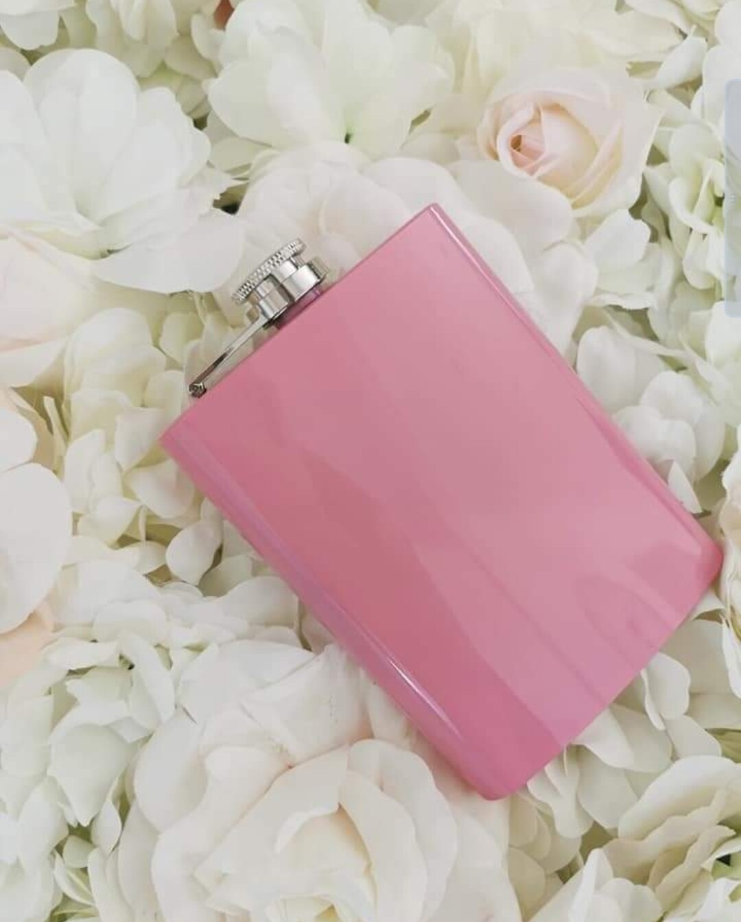 Pink Personalised Hipflask