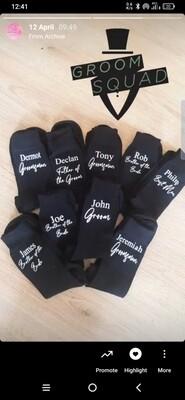 Personalised Groom/Groomsmen Socks