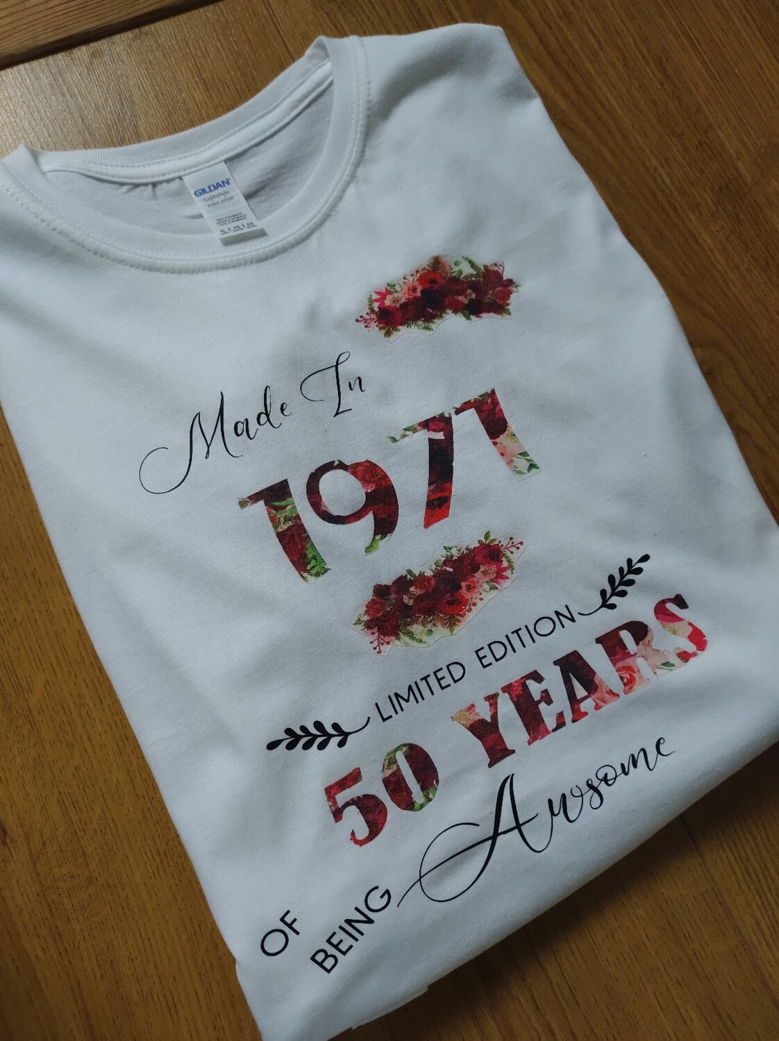 Adults Floral birthday Year T-Shirt