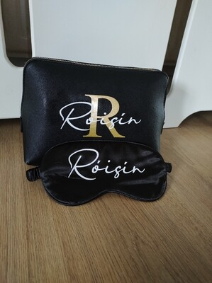 Personalised Faux Leather Cosmetic Bag( various colors)