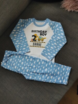 Personalised Birthday PJs