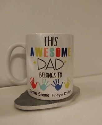 This Dad Belongs To....Mug