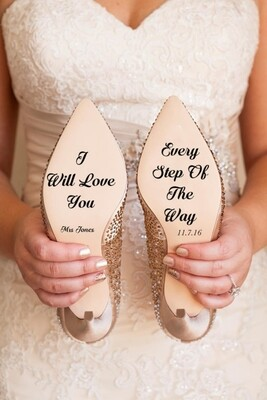 Custom Bridal Shoe Decals