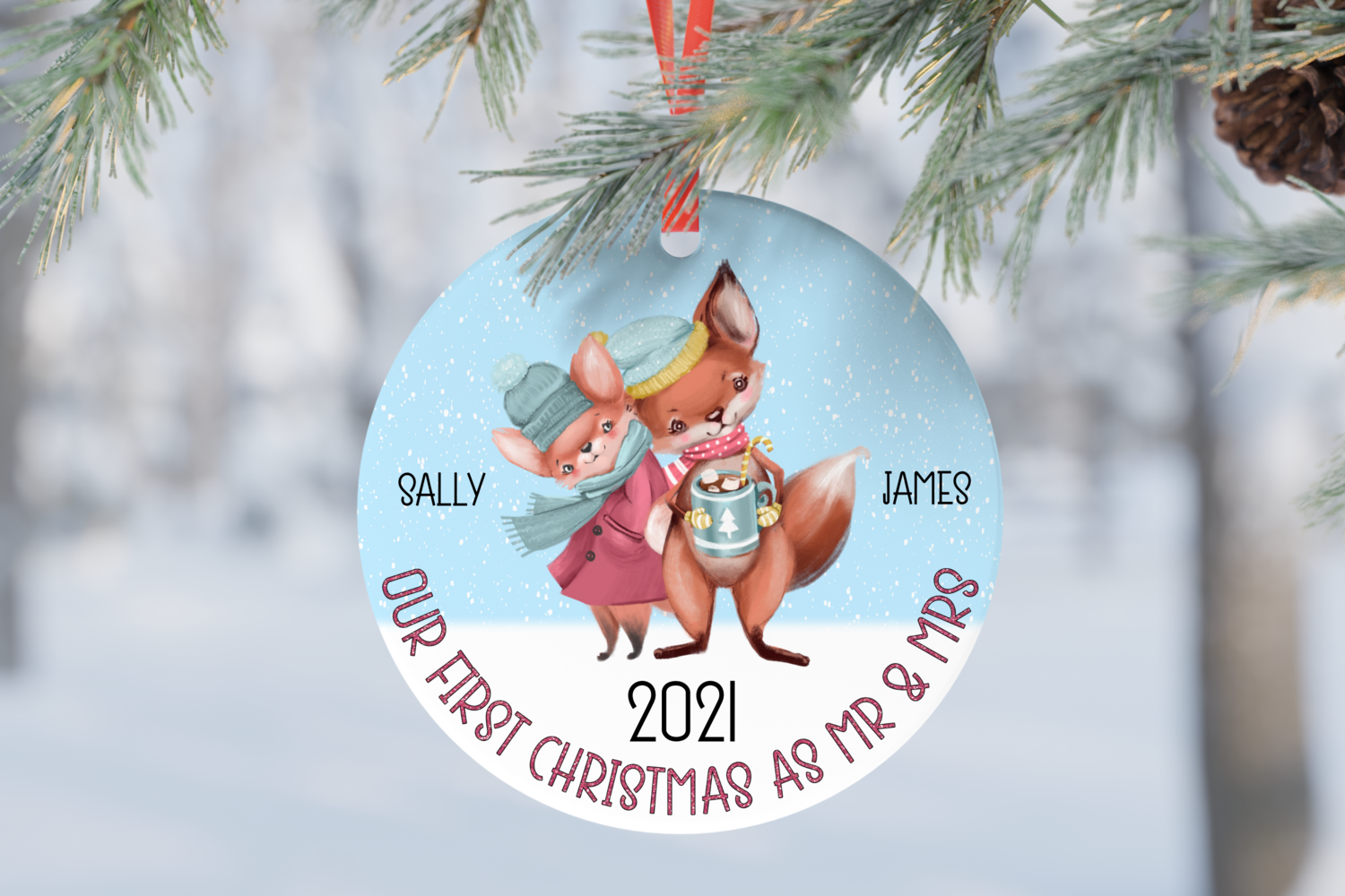 """""""First Year As"""" Couple Hanging Decoration"""