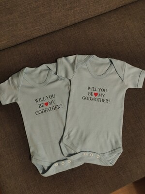 """Personalised """"Will You Be My Godparent?"""" Romper"""