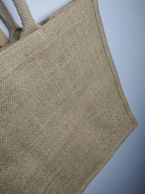 Personalised Shimmer Hessian Gift Bags