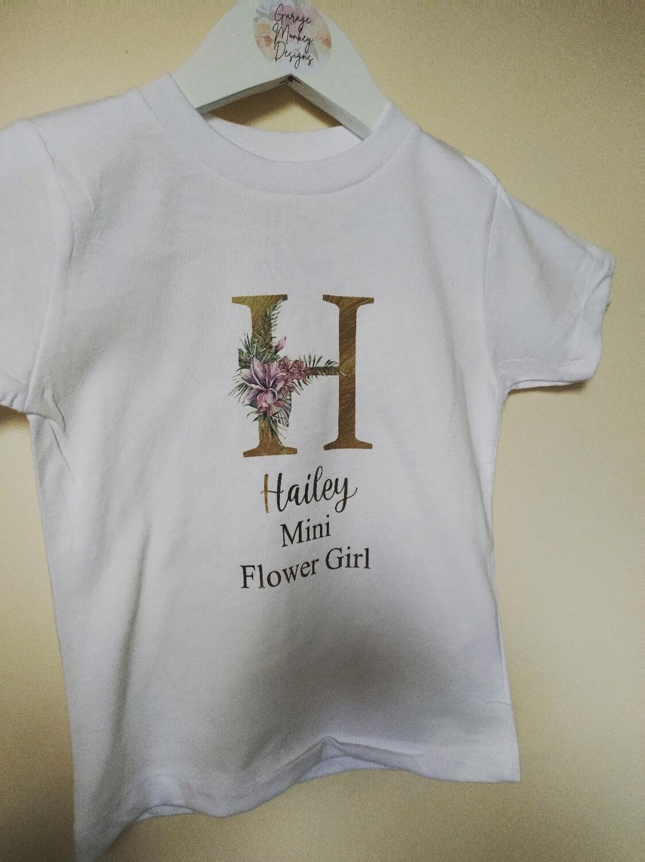 Flower Girl Mini Bridesmaid T-shirt