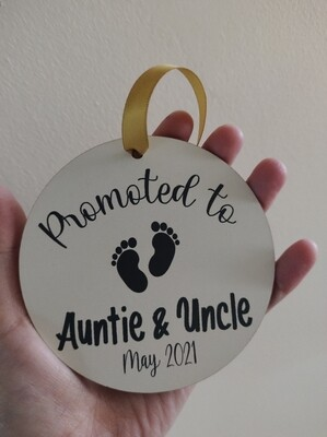 Promoted to Auntie & Uncle Decoration