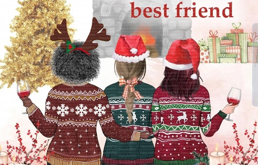 Best Friends Christmas Mug