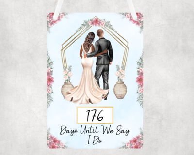 Personalised Wedding Count Down Sign